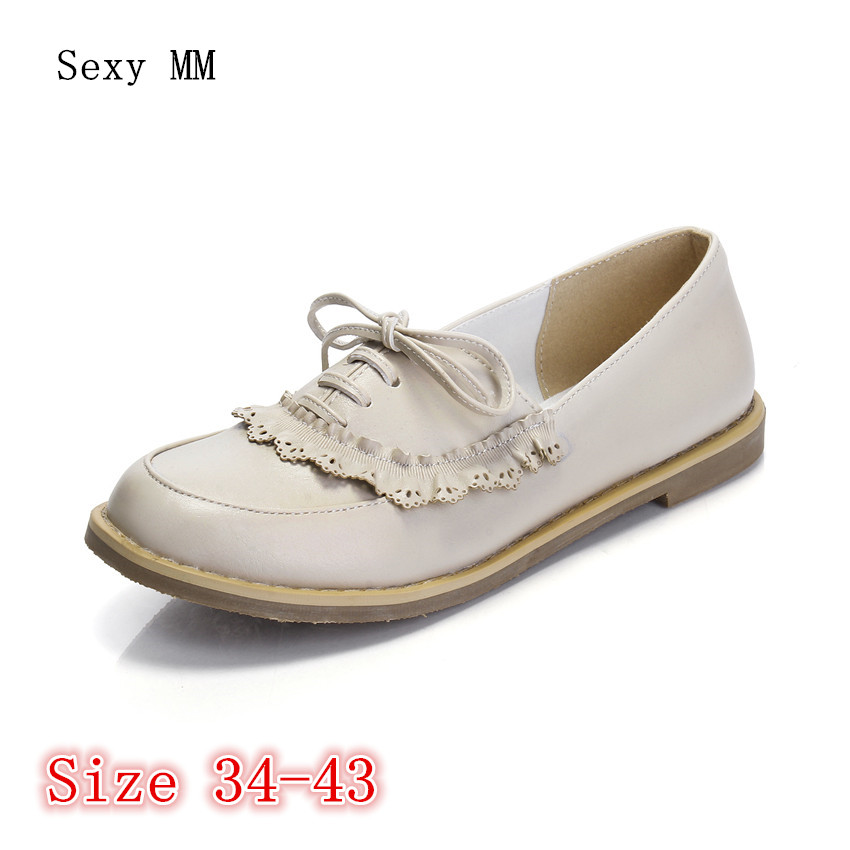 Oxfords Shoes Women Loafers Flats Woman Flat Shoes Soft Comfortable Casual Shoes Plus Size 34 - 40 41 42 43 vintage embroidery women flats chinese floral canvas embroidered shoes national old beijing cloth single dance soft flats