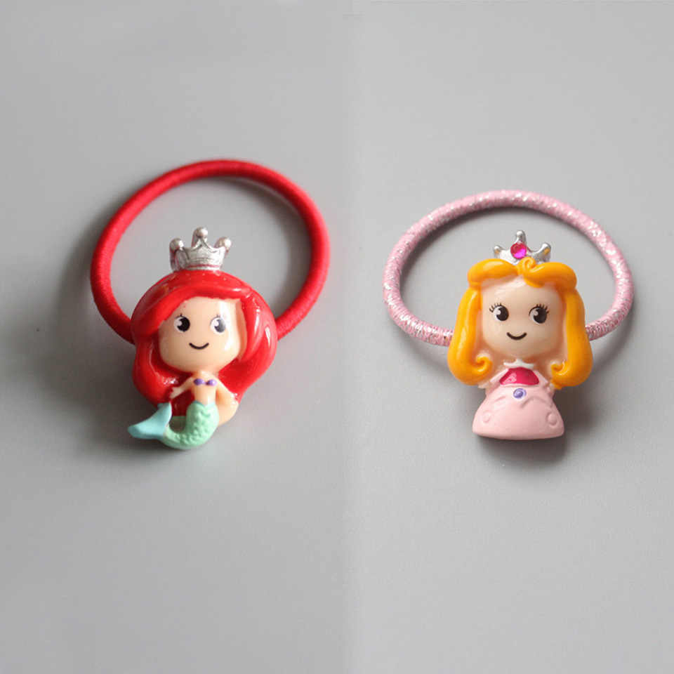 New Cute Kids Little Girl's Princess Mermaid Hair Bands Ponytail Holders Elastic Hair Ties Hair Accessories HT022