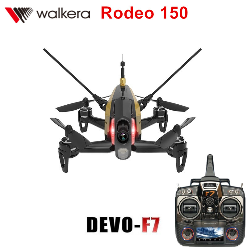 [Special Sale] Original Walkera Rodeo 150 with DEVO F7 FPV Transmitter (wiyh battery) RC Racing Drone with 600TVL Camera RTF walkera rodeo 150 bnf without transmitter rc racing drone with 600tvl night vision camera 150 size