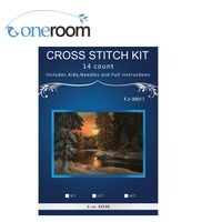 Froest NOneroom neve do inverno, Ponto Cruz contado 14CT Cross Stitch Define Atacado ponto-Cruz Bordados Kits Needlework