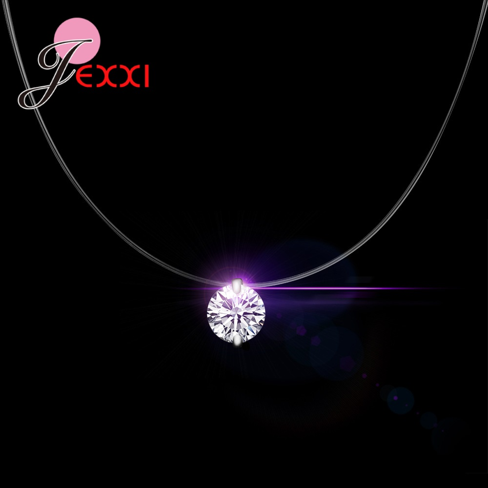 JEXXI Sweet Romantic Valentine's Gift Modern Necklace 925 Sterling Silver Cubic Zirconia Nice Gift Women Appointment Jewelry