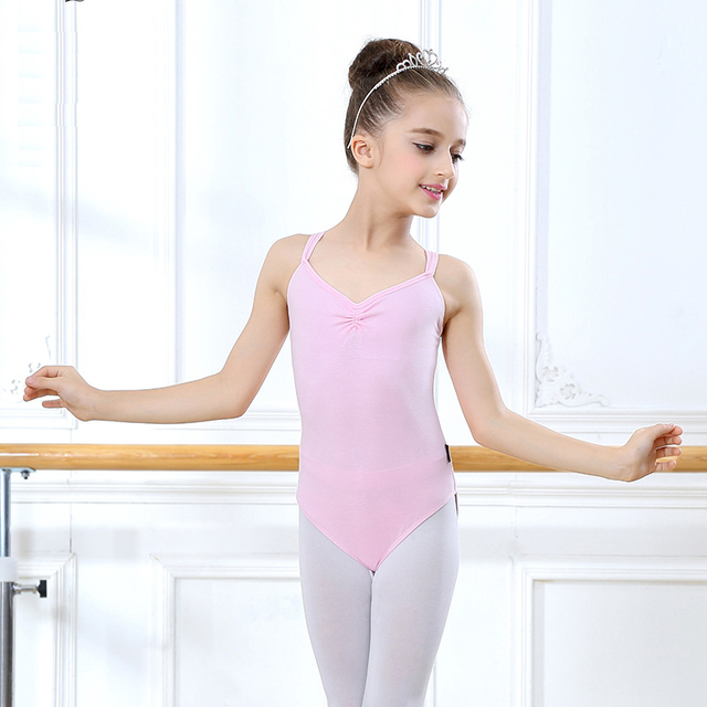 8d6747279a51 Sleeveless Ballet Gymnastics Leotard For Dance Girls Bodysuit Dance ...