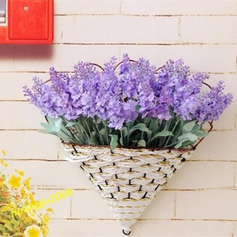 1x 10 Heads Artificial Lavender Silk Flower For Bouquets Wedding Home Party  Decor Outdoor Decoration Silk Lavender Cheap