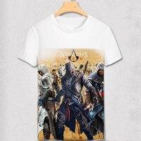 Free Shipping Assassin T Shirts Game Assassins Creed T Shirt Cool Men Short Sleeve Green Arrow