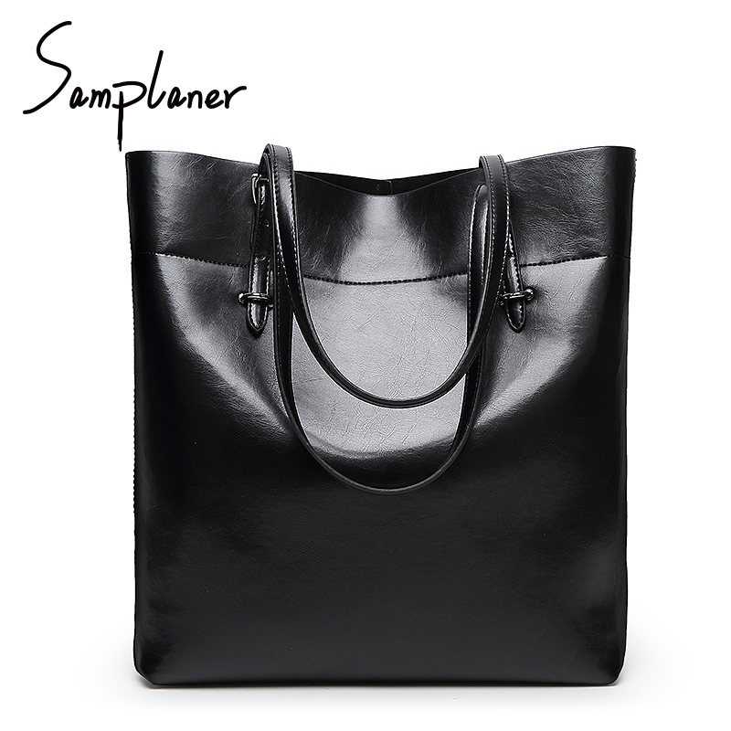 Fashion Big Leather Women Shoulder Bags Luxury Brand Handbags Simple Ladies Totes Top-handle Bags Female Bucket Bag Mujer Bolsa kadell brand luxury women leather handbags bolsa feminina large capacity elegant ladies shoulder bag for business paty totes