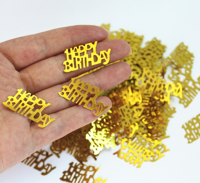 50g Girl Kids 1st 16th 80th Birthday Party Table Decoration 3015mm Gold GLITZ HAPPY