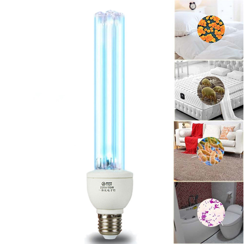 Quartz UVC Germicidal CFL Lamp Bulb Voltage: 220V Wattage: 25W 15W, E27 Base For Disinfect Bacterial Kill Mites Deodorant