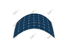 Solarparts 1 100w semi flexible PVsolar panel for Boat Golf cart Charger Yachts Home use panel