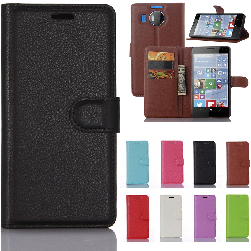 For <font><b>Nokia</b></font> Lumia 950XL Case Luxury Leather Wallet Flip Cover Case for Microsoft lumia <font><b>950</b></font> <font><b>XL</b></font> Phone Cases for Lumia <font><b>950</b></font> <font><b>XL</b></font> Bags image