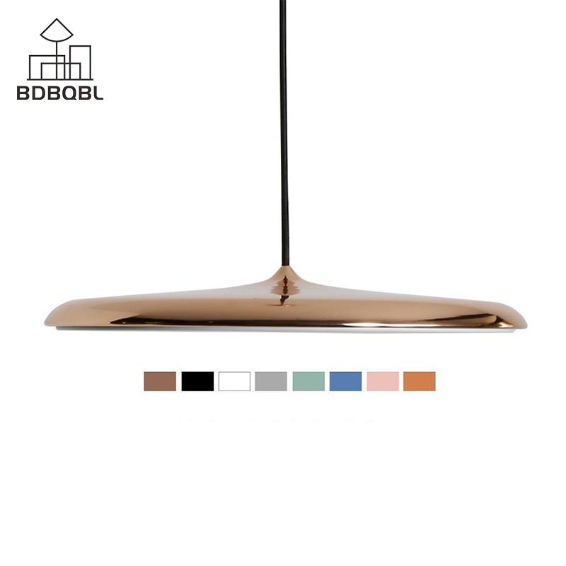 BDBQBL Modern Pendant Lights Flying Scucer Ceiling Hanglamp E27 LED Acryl Hanging Lamp for Dining Room Living Room Study Parlor