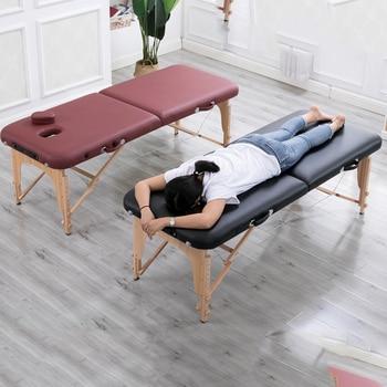 للطي كرسي العناية بالجمال 180 سنتيمتر طول 60 سنتيمتر العرض المهنية المحمولة سبا طاولات للتدليك طوي مع حقيبة صالون خزينة ملابس خشبية