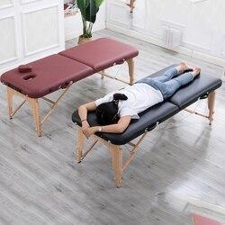 Vouwen Schoonheid Bed 180cm lengte 60cm breedte Professionele Draagbare Spa Massage Tafels Opvouwbare met Tas Salon Meubels Houten