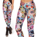 2016 3D Candy Skull Women Legging Womens Leggings Jeggings Legings Sexy Legging Pants Legins Sexy Printed Leggings DDK030210