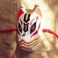 Анфас ручная роспись японский лиса маска коллекция произведений искусства картины косплей маскарад для ну вечеринку карнавал хэллоуин