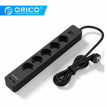 ORICO 3/5 AC+2 USB Power Strip with Electronic Socket Home Office Surge Protector EU Plug hargers Extension Smart
