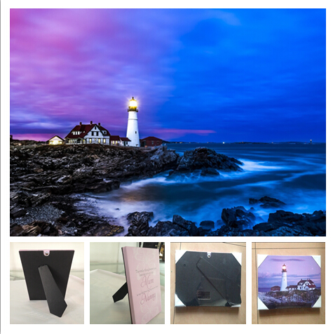 3 Led Stand On Table Plaque, Hang Wall Art Canvas Print Light Up,lighthouse
