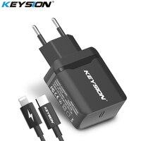 KEYSION 18 Вт USB-C PD быстрое зарядное устройство для iPhone XS Max XR X type-C дорожное настенное быстрое зарядное устройство QC 3,0 PD Быстрая зарядка для 8 8 Plus