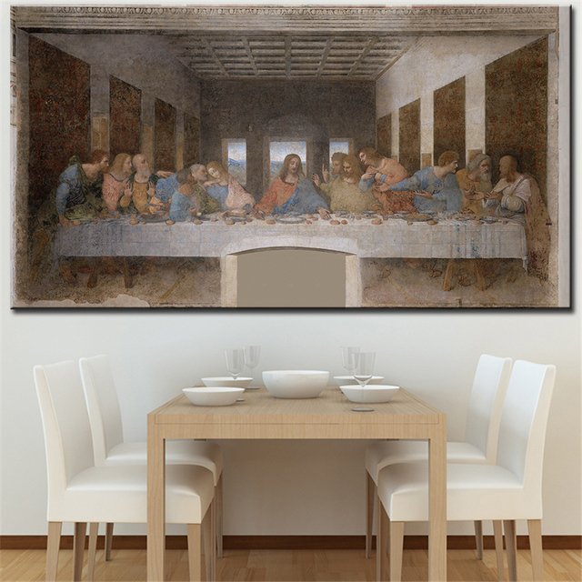 The Last Supper Wall Art aliexpress : buy the last supper da vinci wall picture for