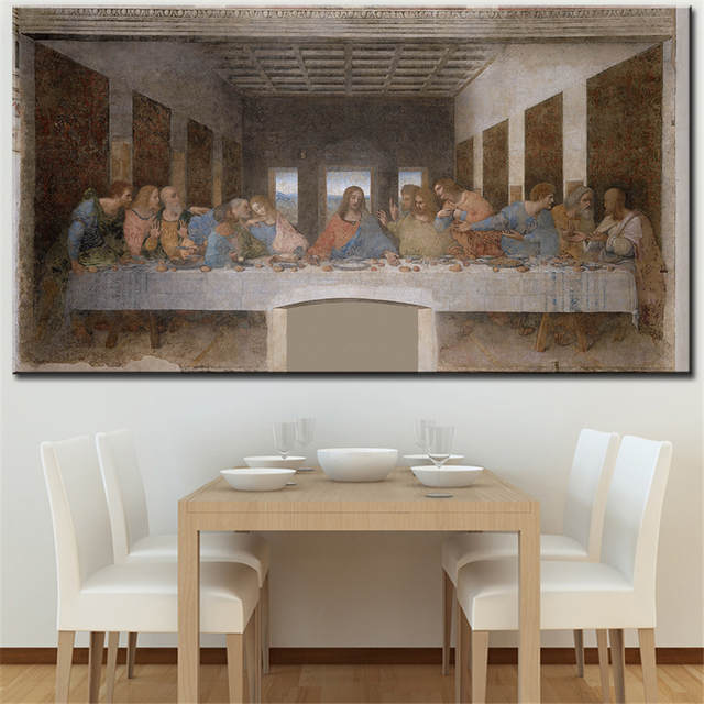 Online Shop The Last Supper Da Vinci Wall Picture For Room Oil