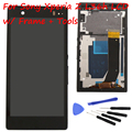 LCD touch screen digitizer assembly with Frame for Sony for Xperia Z L36h C6603 LT36 display + Tools , black white Free shipping