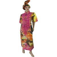 New African Fashion Party Designers Women Riche Bazin Dresses Embroidery Elephant Sleeves Cotton Kaftan Lady Maxi