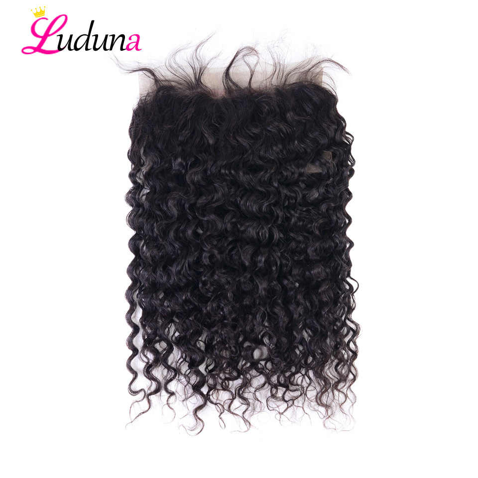 Luduna Water Wave 360 Lace Frontal Closure Pre Plucked With Baby Hair  Brazilian Hair Swiss Lace Frontal Remy Human Hair Closure