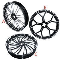 Motorcycle 21 3.5 Front Wheel Rim Dual Disc For Harley 2.25'' Baggers Chopper Bobber Custom bike Touring Dyna Softail