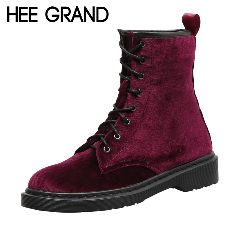 HEE GRAND Flock Motorcycle 2017 Winter Ankle Boots Women Slip on Warm British Fashion Ankle Boots Shoes Woman Flat with XWX6268 hee grand sweet faux fur slippers fashion flats shoes woman slip on bowtie winter warm women shoes 4 colors size 36 41 xwt966