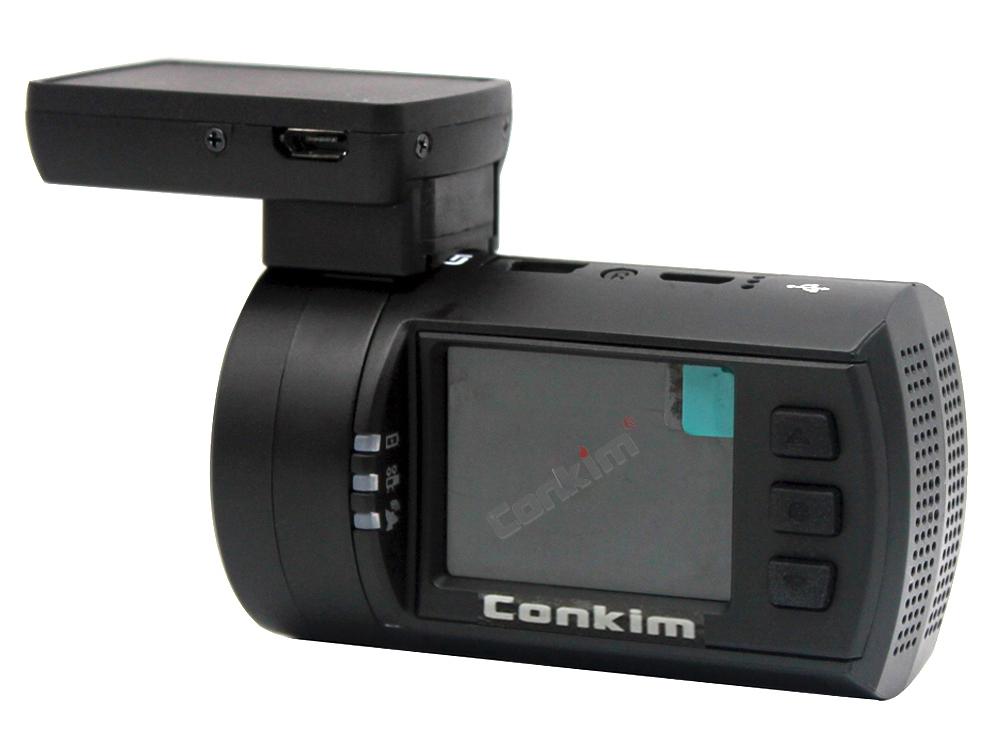 Conkim Mini 0906 Two Camera GPS Car DVR Registrar 1080P Full HD Rear View Camera Capacitor Dual Lens DVR Parking Guard Sensor 23