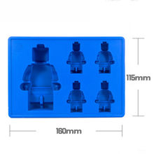 DIY lego man robot Cocktails Silicone Mold Ice Cube Tray Chocolate Fondant Mould diy Bar Party Drink free delivery(China)