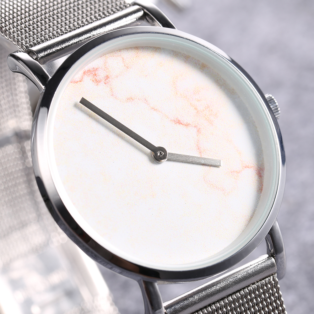 top luxury brand cagarny quartz watch women silver stainless steel mesh band simple style ladies wrist watches waterproof 2019 trendy (6)