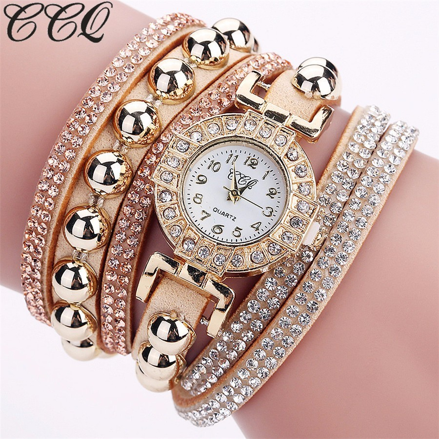 CCQ Brand New Fashion Women Rhinestone Watch Luxury Full Crystal Watch Quartz Watch Relogio Feminino Gift Drop Shipping misscycy lz the 2016 new fashion brand top quality rhinestone men s steel band watch quartz women dress watch relogio feminino