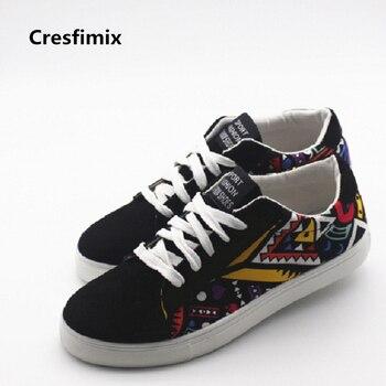 Cresfimix hombres casual patrón zapatos de lona fresco y cómodo encaje  hasta zapatos Tamaño del hombre 39 a 44 negro zapatos hombre 19de81f6646