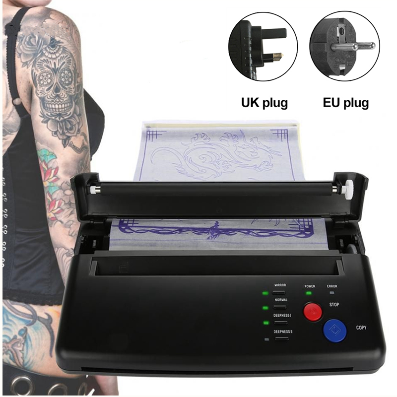 Hot Tattoo Transfer Machine Thermal Template Maker Printer Drawing Copier Tattoo Transfer Permanent Paper Lighter Tattoo