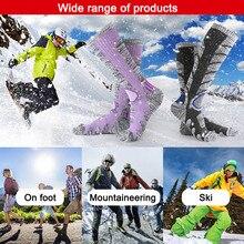 1 пара зимних видов спорта на открытом воздухе высота колена Велоспорт утолщаются Длинные теплые лыжный носок ZJ55