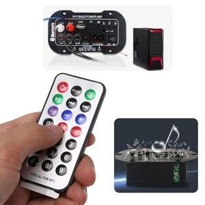 Image 2 - 25W Auto Bluetooth Subwoofer Hi Fi Scheda di Amplificazione Dei Bassi Audio TF USB 220V/12V/24V
