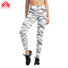 SYPREM Sports pants Bronzing pattern yoga pants Breathable Highly elastic Quick dry running tights fitness leggings ,1FP0023 breathable chevron pattern yoga leggings