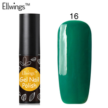 Ellwings 29 Colors High Quality Product Nail Polish Soak Off  Uv Gel Varnish Semi Permanent Long Lasting Gel Lacquer 6ml
