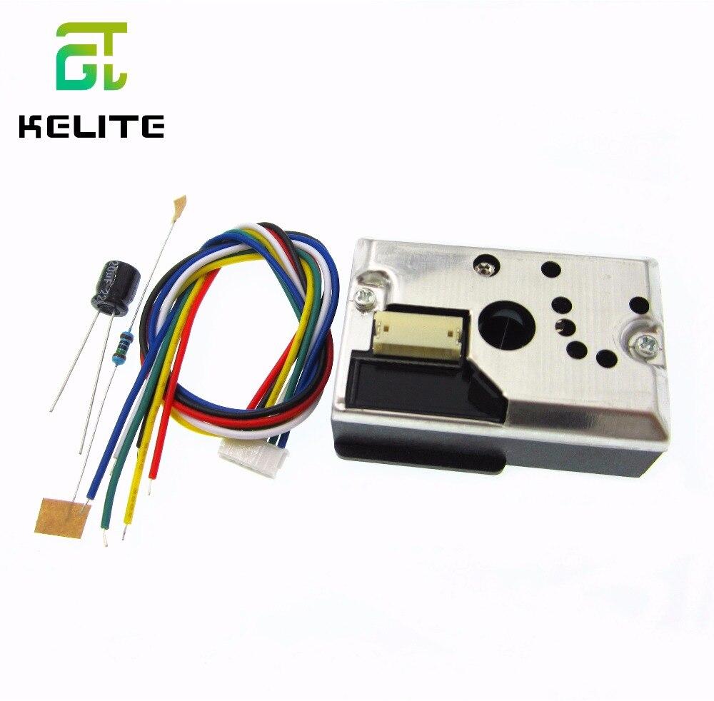 GP2Y1010AU0F Компактный Оптический датчик пыли Датчик дымовых частиц с кабелем GP2Y1014AU0F
