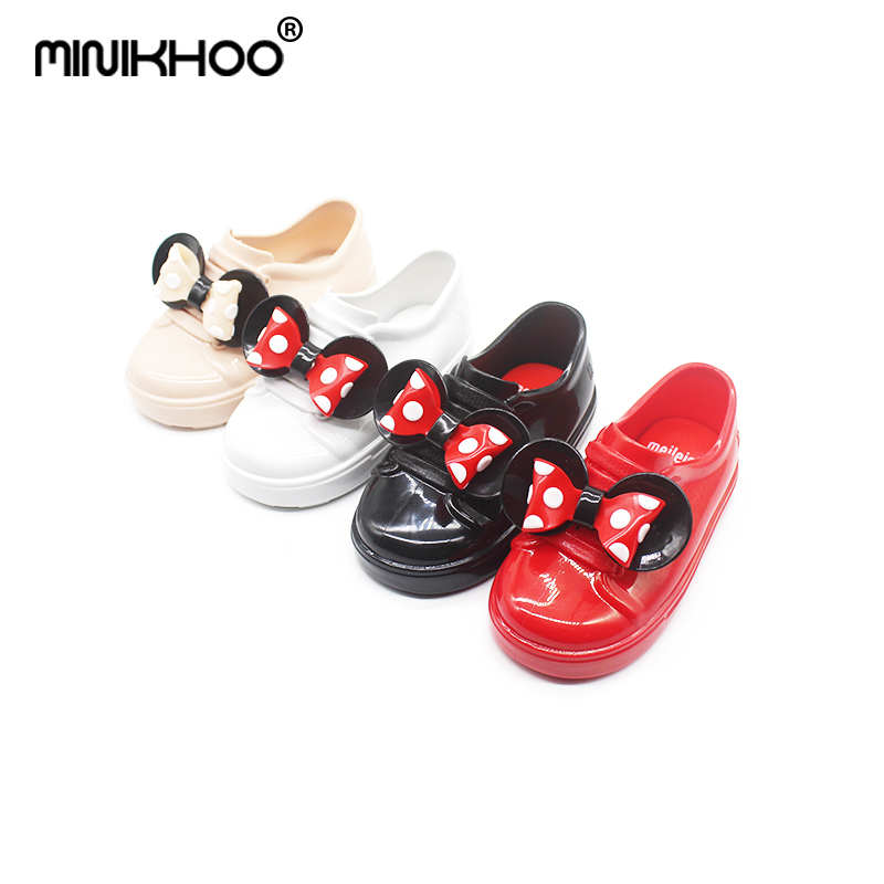 Mini Melissa 2018 New Minne Mickey Bows Sandals Shoes Baby Jelly Shoes Non-slip Waterproof Leisure Soft Comfort Melissa Shoes