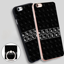 BECAUSE SCIENCE White  Soft TPU Silicone Phone Case Cover for iPhone 4 4S 5C 5 SE 5S 6 6S 7 Plus