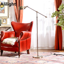 Vintage Iron E27 Floor Lamp Metal Simple Style Floor Lights Stanging Indoor Lamp for Dining Living Room Studio Reading Room