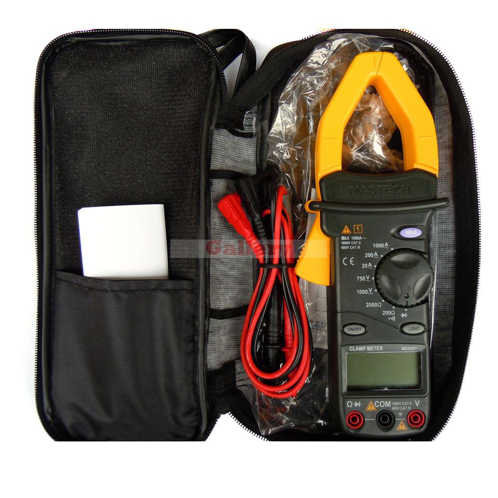 MS2001 1000A Digital AC Clamp Meters AC/DC Voltmeter AC Ammeter Ohmmeter W/LCD Backlight Testers