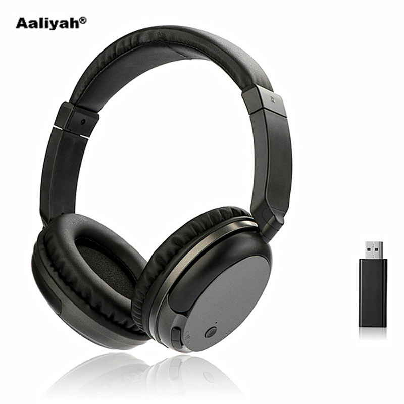 Aaliyah WS-3680 FM Wireless Headphones Stereo Super Bass RF Receiver With USB Emitter TV Headsets for Computer for IOS Xiaomi цена