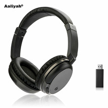 цена на Aaliyah WS-3680 FM Wireless Headphones Stereo Super Bass RF Receiver With USB Emitter TV Headsets for Computer for iphone Xiaomi