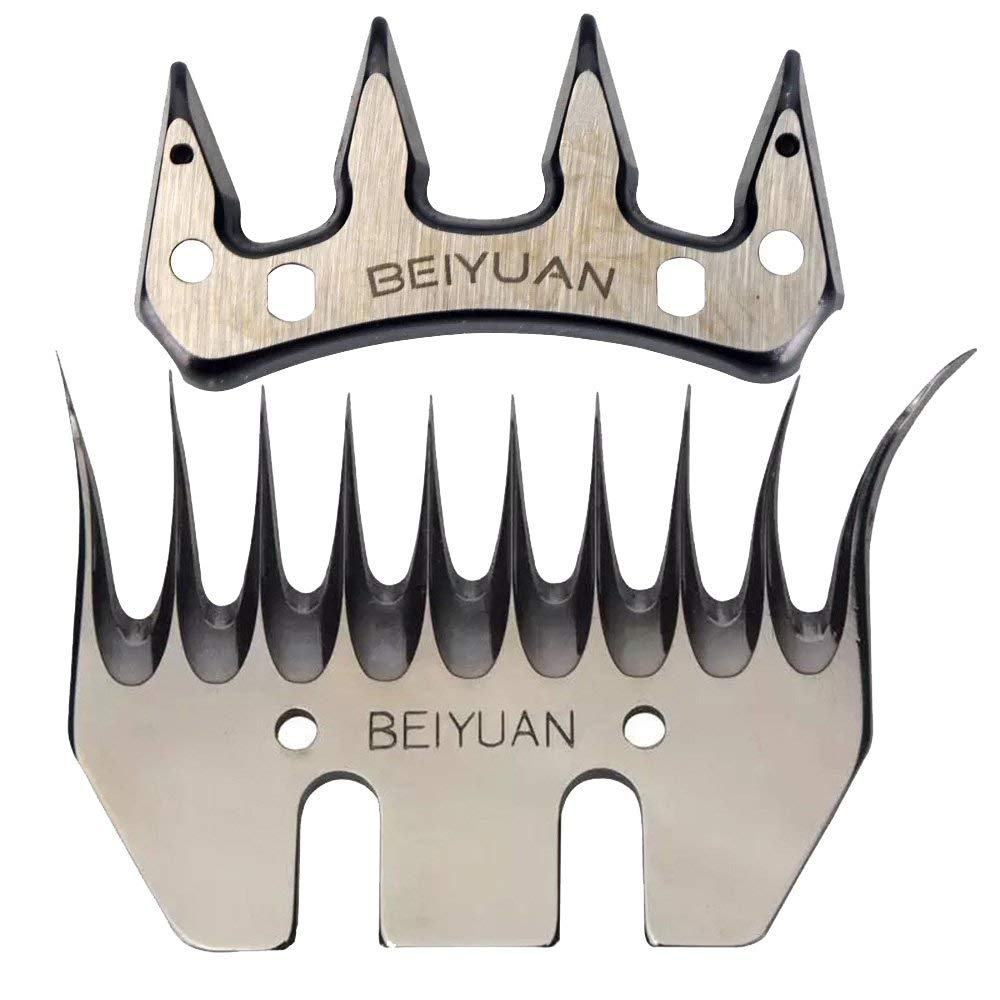 Sheep Shears Blades Straight 13T Tooth Electric Wool Comb Cutter Stainless Steel
