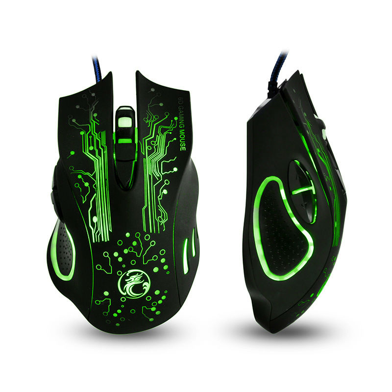 The New ESTONE X9 5000DPI LED Optical 6D USB Wired game Gaming Mouse gamer For PC