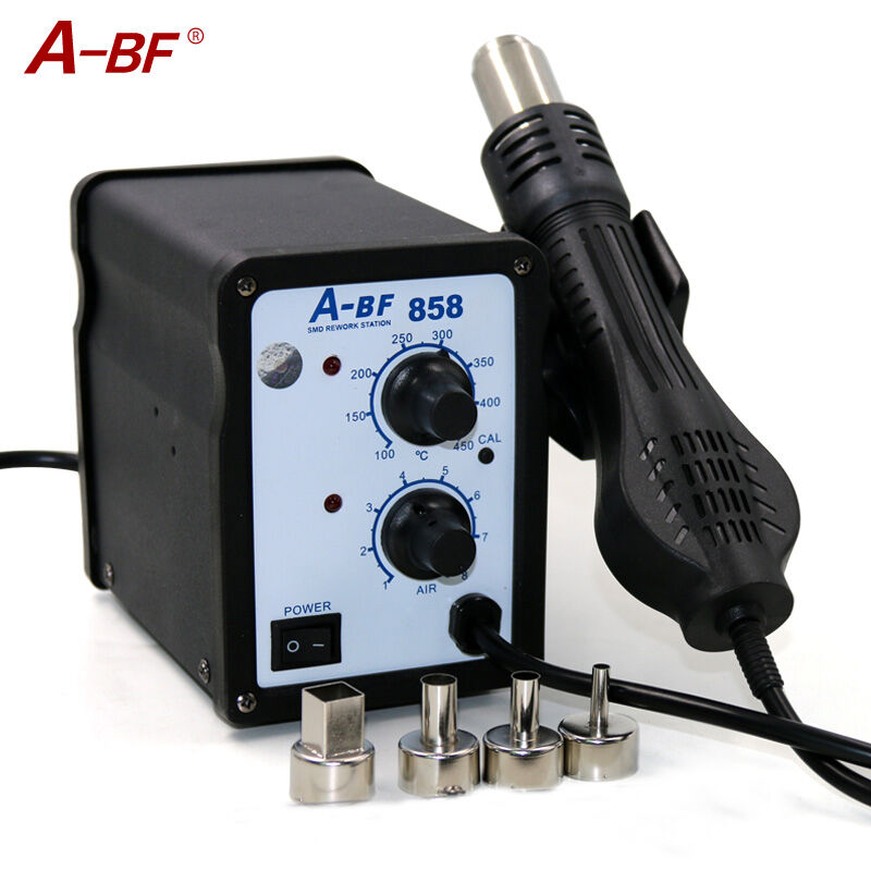 A-BF 858 Hot Air Rework Station  Fan Type Hot air Gun desoldering station LED Digital heat gun Free shipping 220V 700W 220v lead free repairing system desoldering station of aoyue 2702a hot air gun desoldering gun