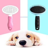 Small Stainless Steel Dog Message Hair Comb Durable Safe Dog Message Hair Comb Care security Dog Tools Produtos Pet 80Z1359