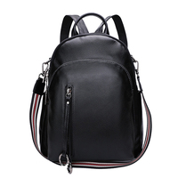 2019 100% Soft Natural Genuine Cow Leather Shoulder Travel Women Backpack Ladies Women Real Cowhide Bags Party Backpacks